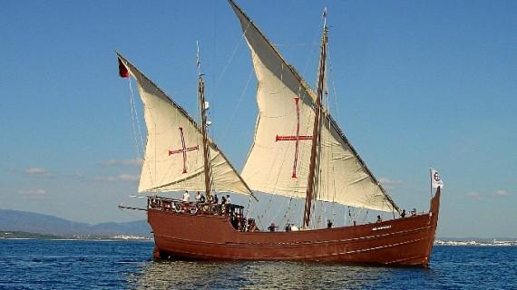 Barcos de los siglos XIV y XV recalarán el puerto de Mazagón para realizar educación ambiental