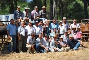 Grupo de ganaderos de Hinojos.