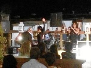 El pianista fue acompañado por una bailaora de su cuadro, Esperanza Márquez