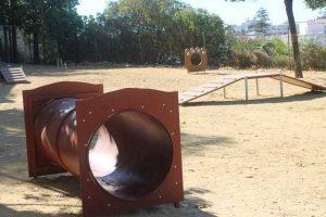 Zona para perros en el Parque de la Esperanza.