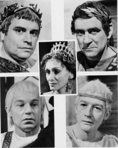 Los cinco emperadores en 'Yo, Claudio'.