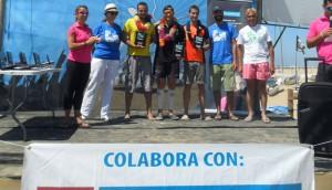 Imagen del podio de la prueba celebrada en Punta Umbría.
