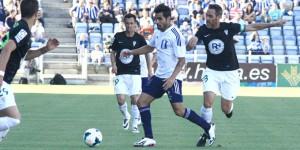 Dimas ha vuelto con el grupo tras su lesión y podría jugar ante el Zaragoza. / Foto: Josele Ruiz.