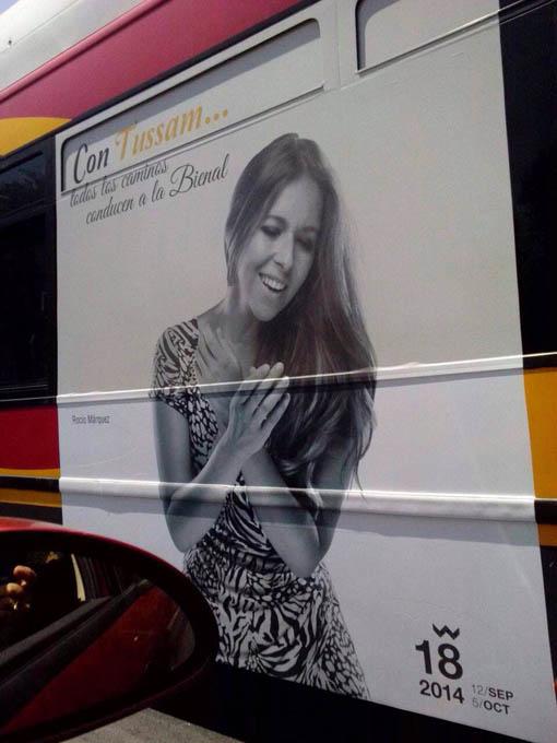 Rocío Márquez, protagonista de los autobuses interurbanos de Sevilla