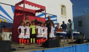 Algunos de los galardonados en la Campaña Verano Deporte 2014 en San Juan.