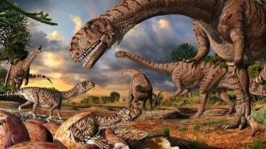 Existen pocas evidencias de dinosaurios en la provincia.