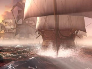 Los piratas aguardaban el mejor momento para atacar a los barcos.