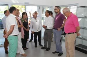 Visita de Ignacio Caraballo a Ayamonte.