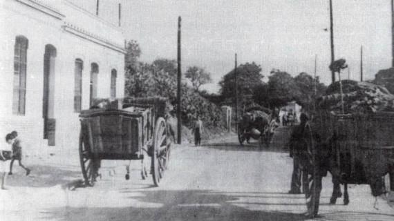Avenida de las Adoratrices de Huelva en los años cuarenta del pasado siglo XX