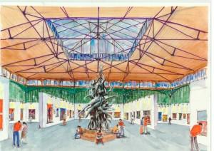 Acuarelas del Anteproyecto como Centro de Arte para Huelva, HERNANDEZ, J. 2006.