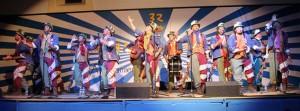 Actuación del grupo de carnaval en la semana cultural de San Juan del Puerto.