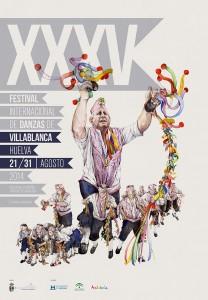 Cartel del Festival de este año, obra del artista villablanquero Manuel Antonio Domínguez.
