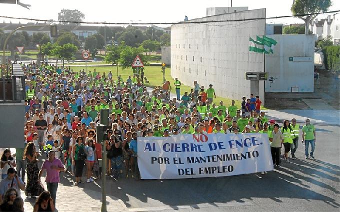 Manifestación en San Juan del Puerto.