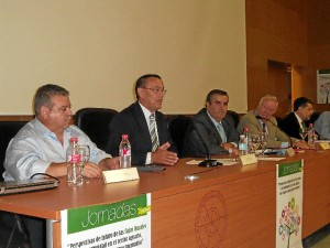 El presidente de la Diputación, Ignacio Caraballo, en su instante de su intervención