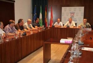 Reunión en el Ayuntamiento de Cartaya para preparar el dispositivo.