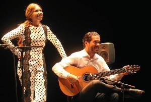 Rocío junto a Manuel Herrera.
