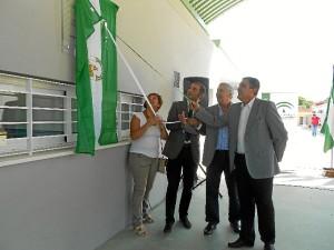 Inauguración del aulario en Moguer.