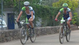 Eustaquio López y Jaime Rodríguez llegaron juntos a la meta.