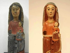 El antes y el después de una de las figuras.
