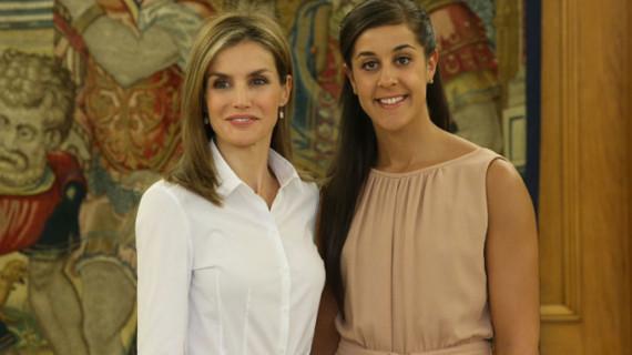 Carolina Marín, recibida en el Palacio de la Zarzuela por la Reina doña Letizia
