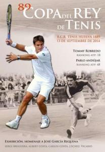 Cartel del torneo, en el que en un principio estaba Pablo Andújar, y que ha sido sustituido por Feliciano López.