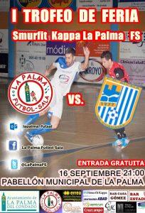 Cartel anunciador del Trofeo de fútbol sala en La Palma.