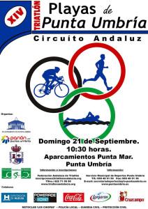 Cartel anunciador de la prueba de este domingo en Punta Umbría.