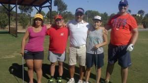 Los representantes del Coda que estarán en Sevilla en el Campeonato de España de Golf.