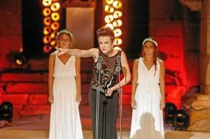 Cuando recibió el premio Ceres 2014 a la Juventud.