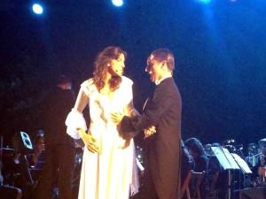 Christine y el Fantasma, dos de los grandes protagonistas de la obra.