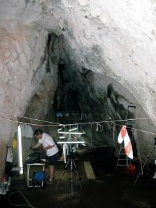 Galería superior de la cueva.
