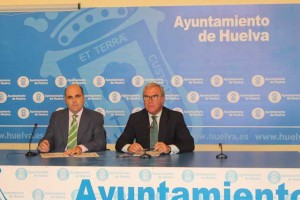 Saúl Fernández y Francisco Moro, en la rueda de prensa.