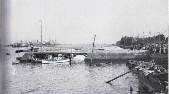 Muelle de viajeros, segunda década del pasado siglo XX