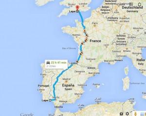 Poco más de 1.200 kilómetros de distancia separan Lepe (Huelva) de Lepe (Hampshire).