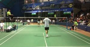 Un momento del partido de las semifinales ante el americano Howard Shu.