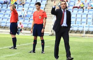 José Luis Oltra, entrenador del Recre, satisfecho a medias con el empate. / Foto: Josele Ruiz.