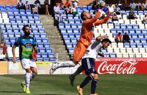 Pese a no pasar del empate sin goles ante el Lugo, el Recre sigue en puestos de privilegio. / Foto: Josele Ruiz.