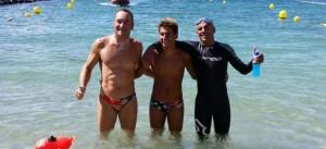 Los tres primeros clasificados en la prueba celebrada en Ceuta, entre ellos Rubén Gutiérrez.
