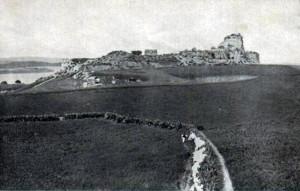 Imagen de las ruinas del Castillo de Ayamonte, ya desaparecidas.