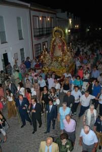 Salida procesional de la Virgen del Valle.