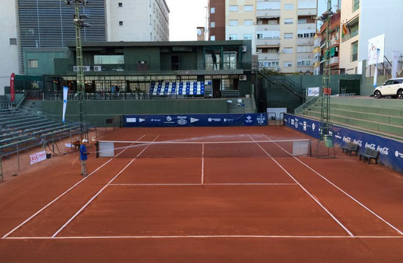 Pista central del Real Club Recreativo de Tenis de Huelva, donde se disputa la Copa del Rey.