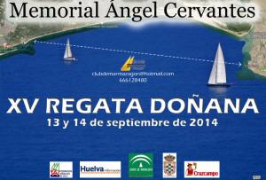 Cartel anunciador de la regata Doñana 2014.