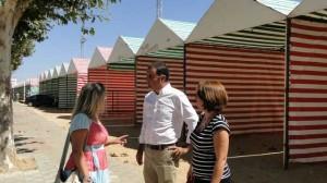 Representantes municipales han visitado el recinto ferial.