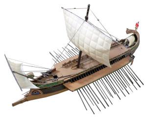 Barco romano similar a los que llegarían a la ciudad ahora sumergida.