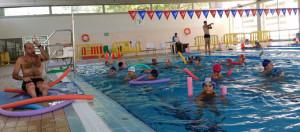 Los niños disfrutaron con las actividades acuáticas.