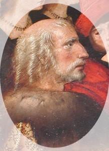 Cristóbal Colón, en la pintura 'Virgen de los Navegantes', por Alejo Fernández entre 1505 y 1536. / Foto: wikipedia.