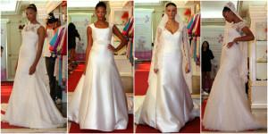 Desfile con algunos trajes de novia del 2015