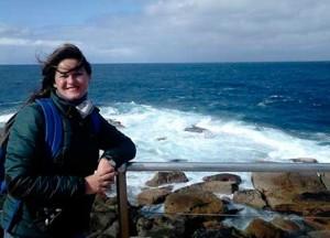 Mónica Martínez, en la ciudad de Perth.