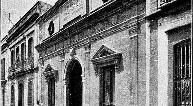 Museo Provincial de Bellas Artes de Huelva, situado en la antigua calle Castelar en la década de los veinte del pasado siglo XX