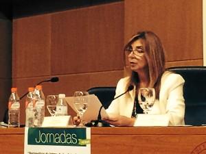 La secretaria general de Finanzas y Patrimonio de la Junta, Julia Nuñez, en su intervención